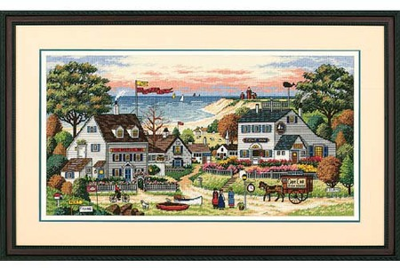 Gold Collection Cozy Cove Counted Cross Stitch Kit