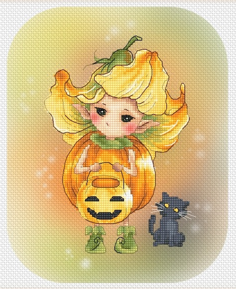 Pumpkin Flower Sprite