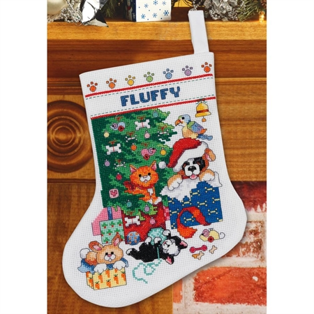 Pet Stocking Counted Cross Stitch Kit
