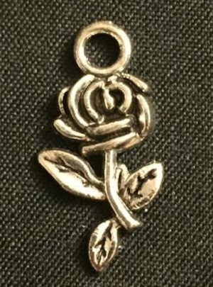 Silver Rose Charm