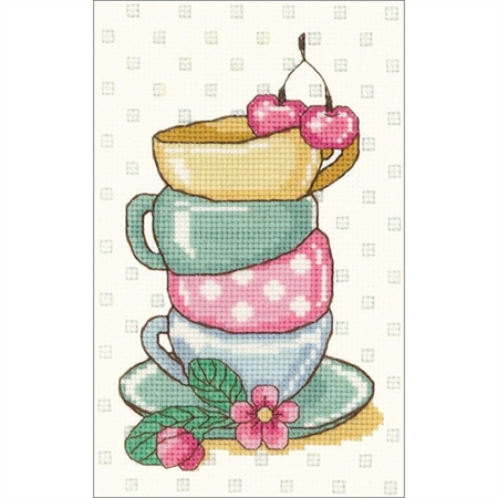 Tea Time Counted Cross Stitch Kit