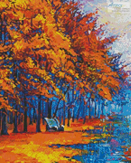 Autumn Landscape Painting - Crop