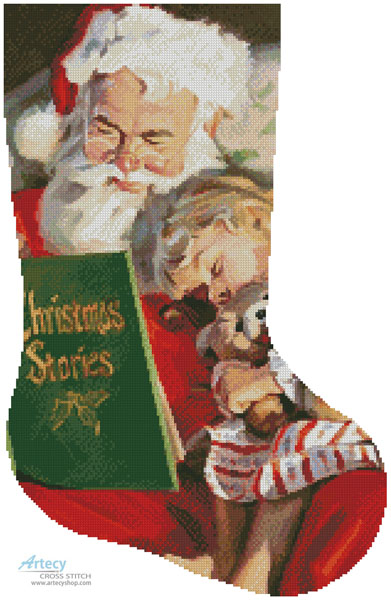 Christmas Stories Stocking (Right)