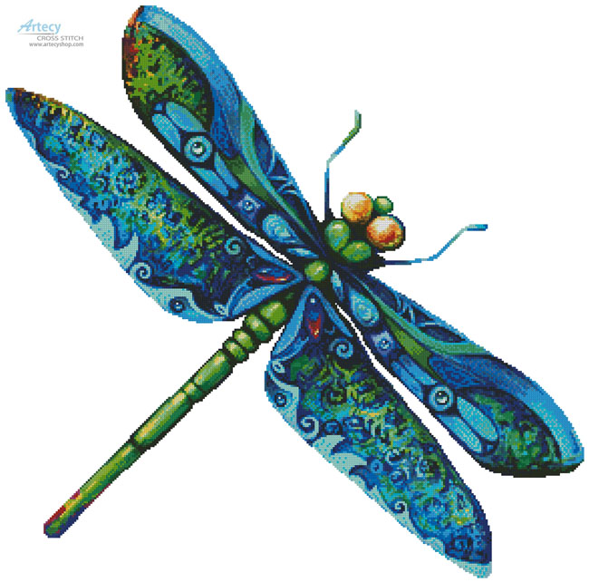Dragonfly Painting - No Background