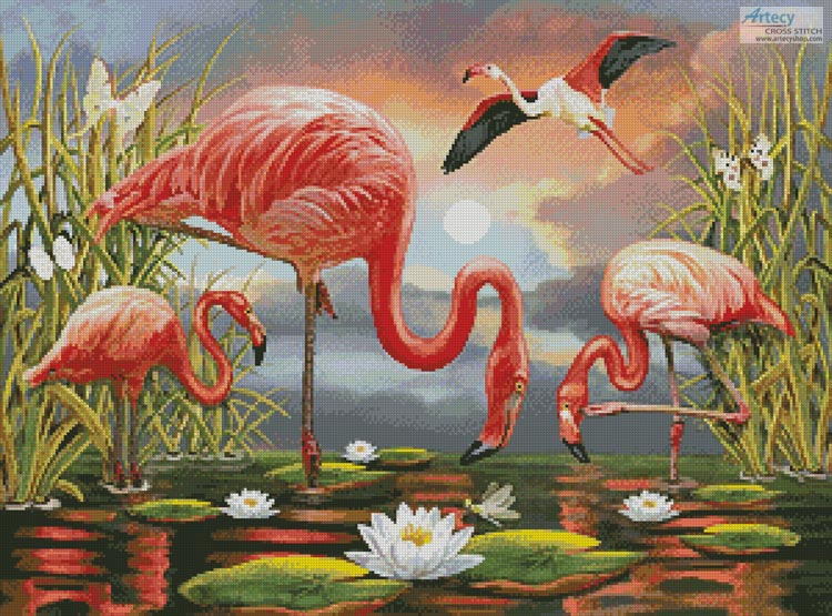 Flamingos Painting