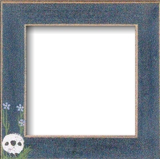 Matte Blue With Sheep in the Meadow Frame