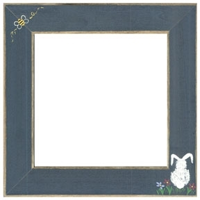 Matte Blue With Bumble Bee & Bunny Frame