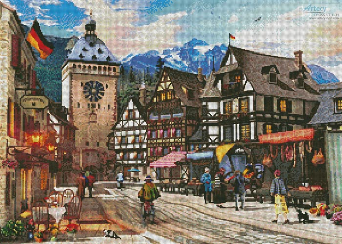 German Market Town