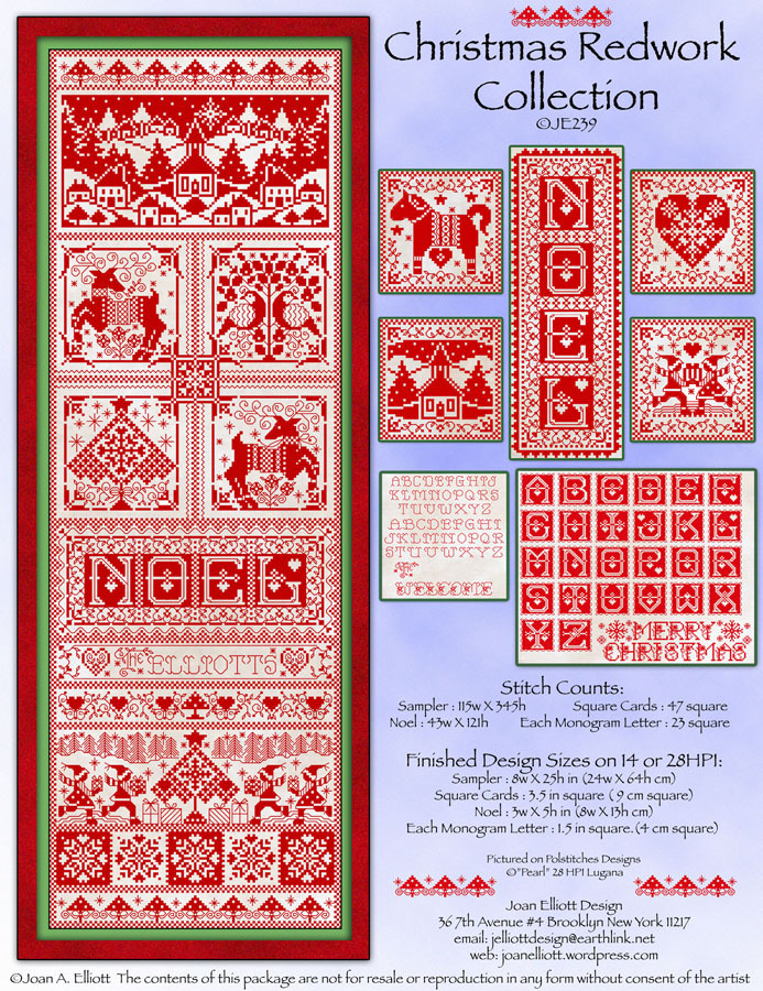 Christmas Redwork Collection