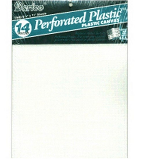 "Perforated Plastic Canvas 14 Count 8.5""X11"" Sheet White"