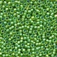 62049 Spring Green Frosted Seed Beads