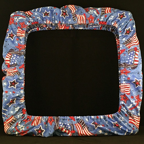 "6x6"" Q-Snap Cover - USA Sparkle"