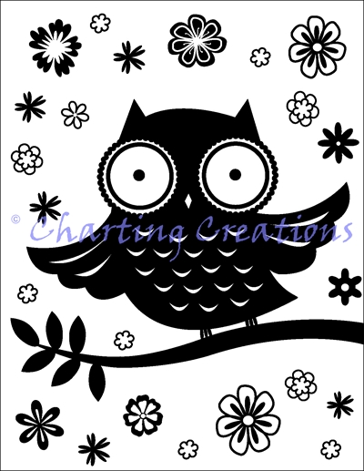 Big Eyed Owl Silhouette