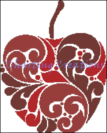 Red Apple Silhouette