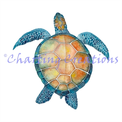 Watercolour Sea Turtle