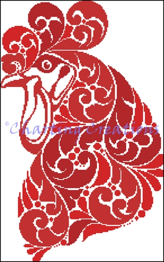 Year Of The Rooster Silhouette