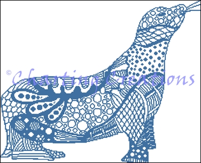 Zentangle Seal Silhouette