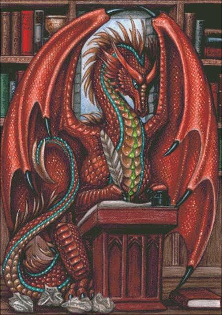 dragon writing