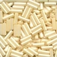 70123 Cream Small Bugle Beads