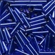80020 Royal Blue Medium Bugle Beads