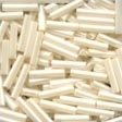 80123 Cream Medium Bugle Beads
