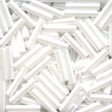 80479 White Medium Bugle Beads