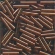 82023 Root Beer Medium Bugle Beads