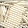 90123 Cream Large Bugle Beads