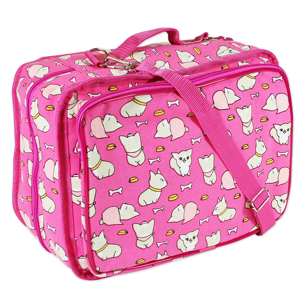 Dogs On Pink Tote
