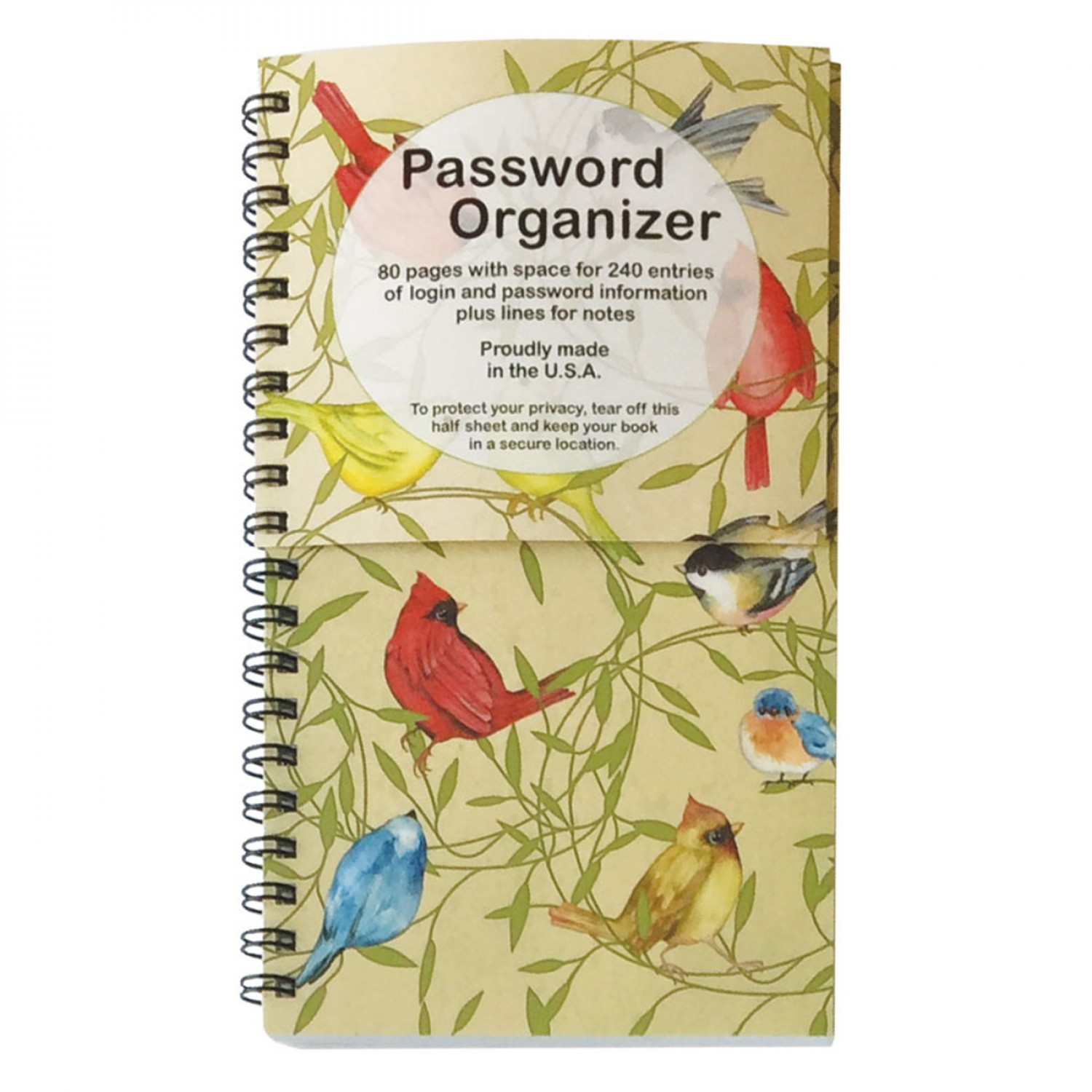 Password Book - Birds