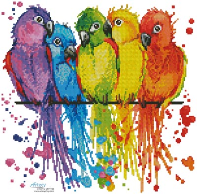 Mini Colourful Birds