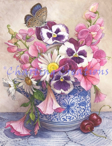 Pansies And Sweet Peas