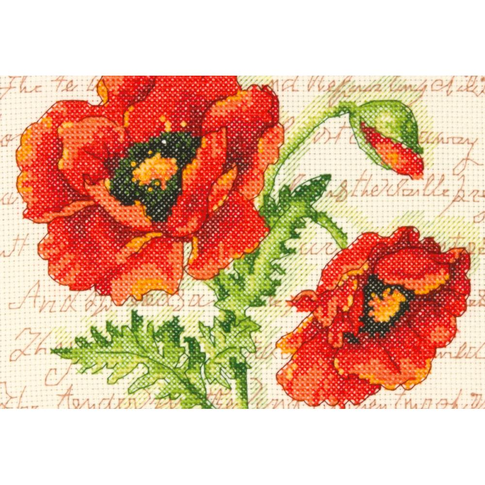 Mini Poppy Pair Counted Cross Stitch Kit