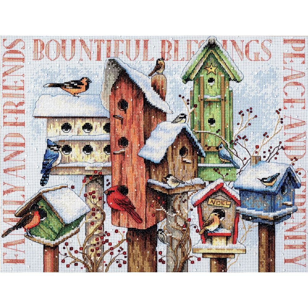 Winter Housing Counted Cross Stitch Kit