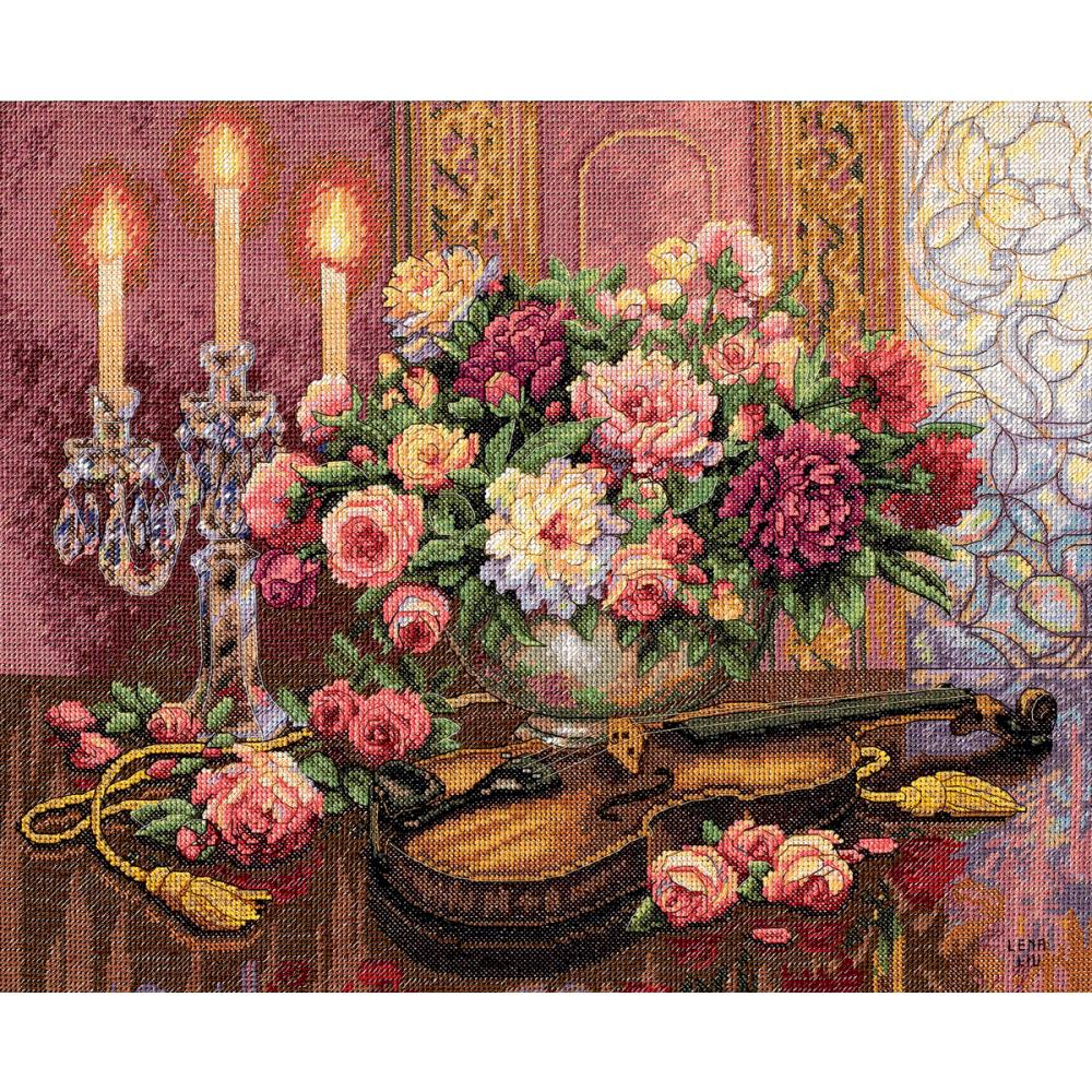 Gold Collection Romantic Floral Counted Cross Stitch Kit