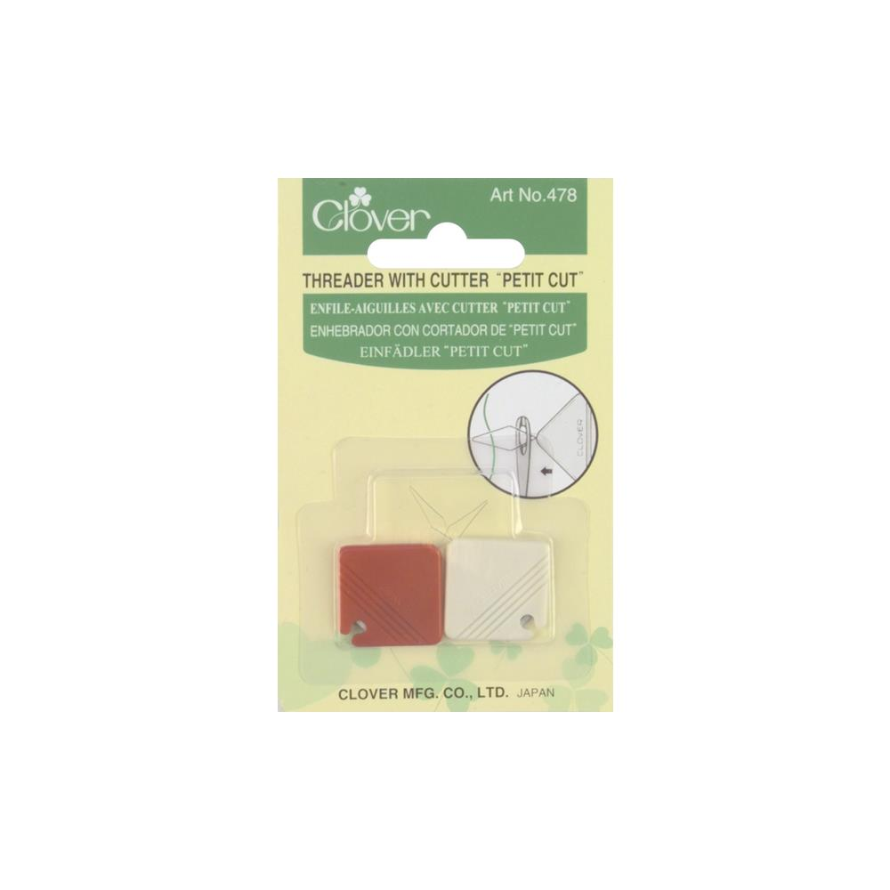 Clover Petite Needle Threader W/Cutter