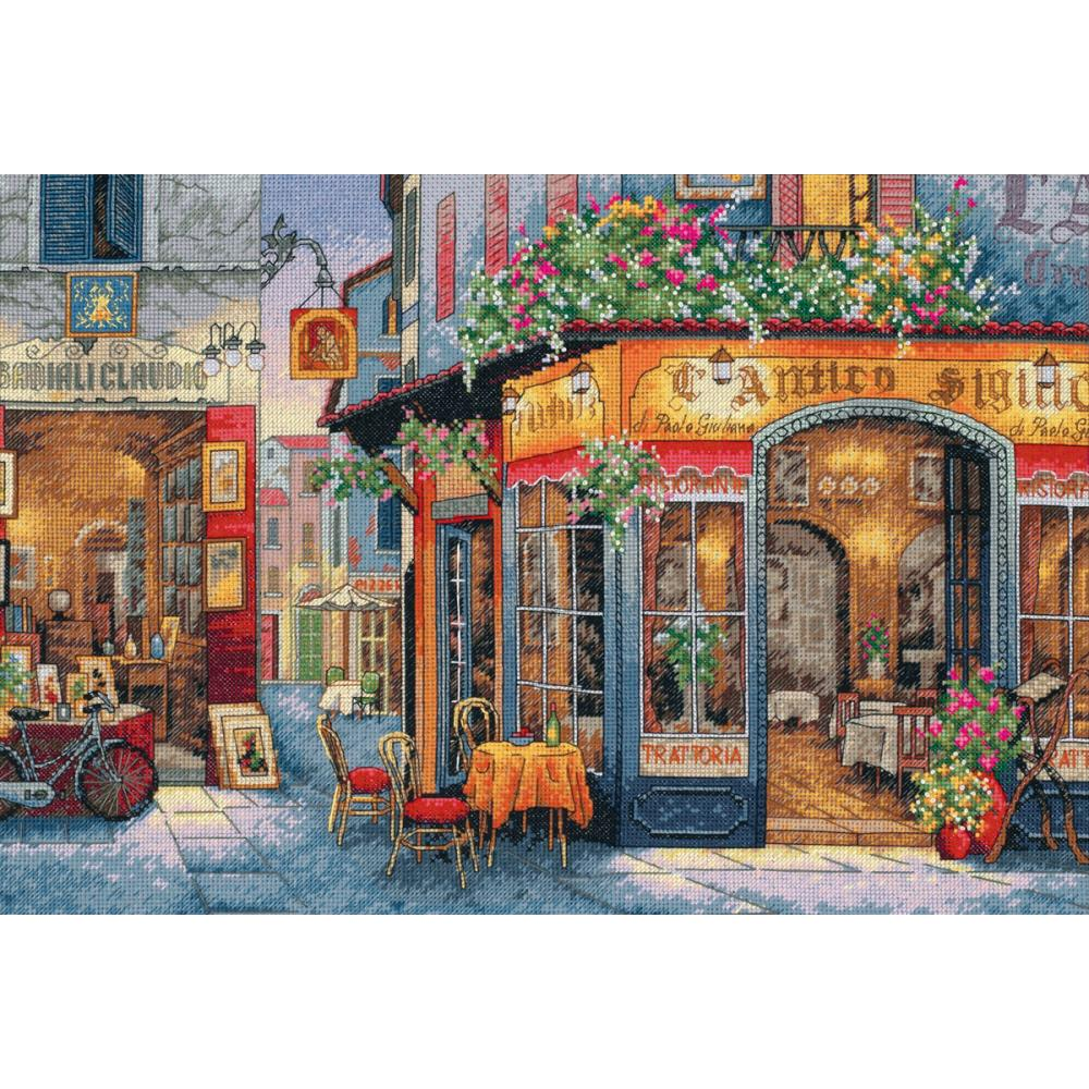 Gold Collection European Bistro Counted Cross Stitch Kit