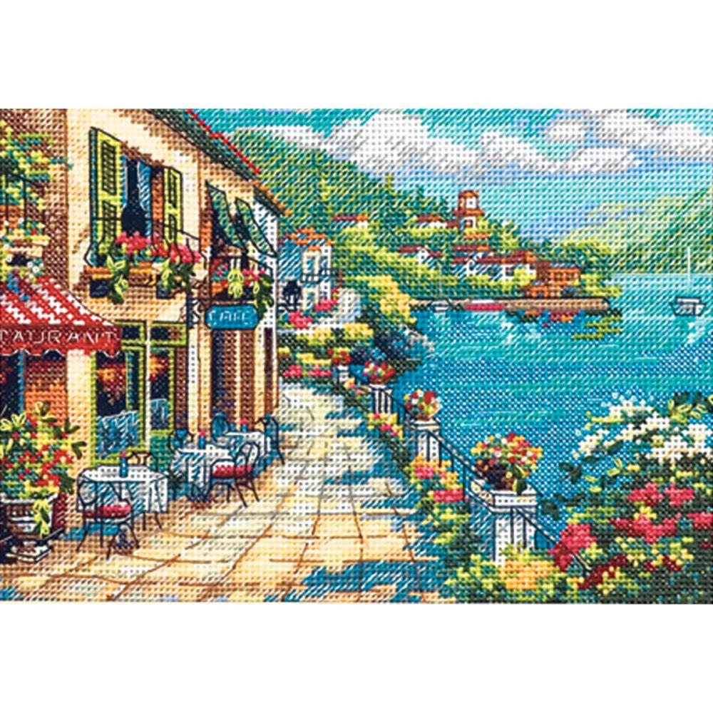 Gold Petites Overlook Cafe Counted Cross Stitch Kit