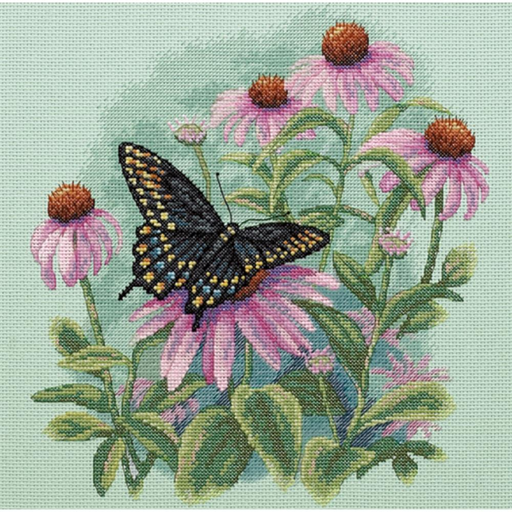 Butterfly & Daisies Counted Cross Stitch Kit