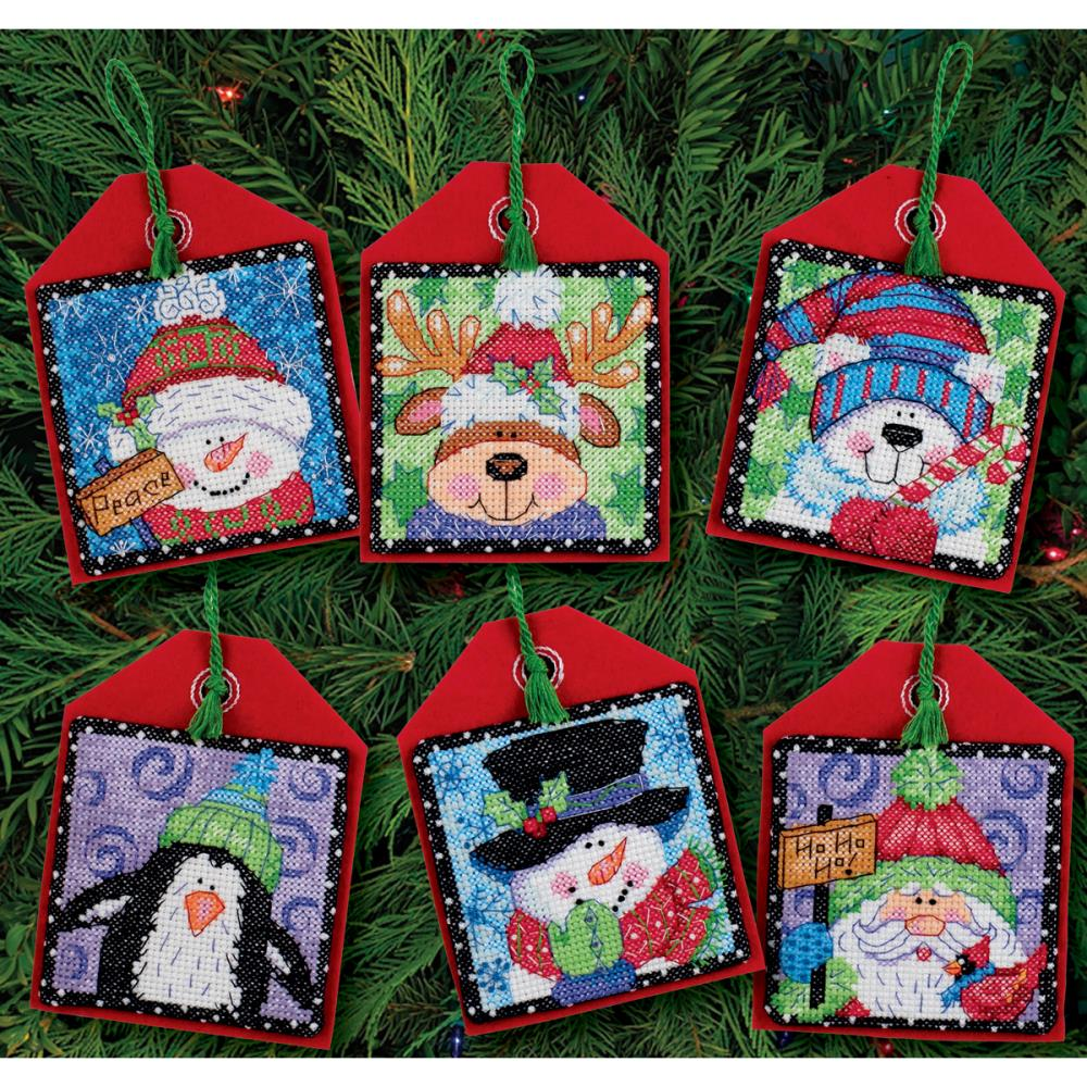 Christmas Pals Ornaments Counted Cross Stitch Kit