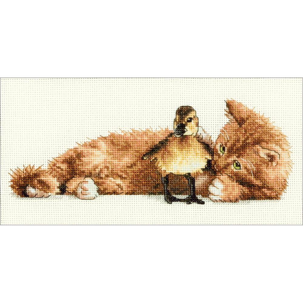 Gold Petites Furry Friends Counted Cross Stitch Kit