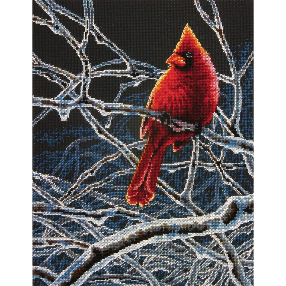 Ice Cardinal Counted Cross Stitch Kit