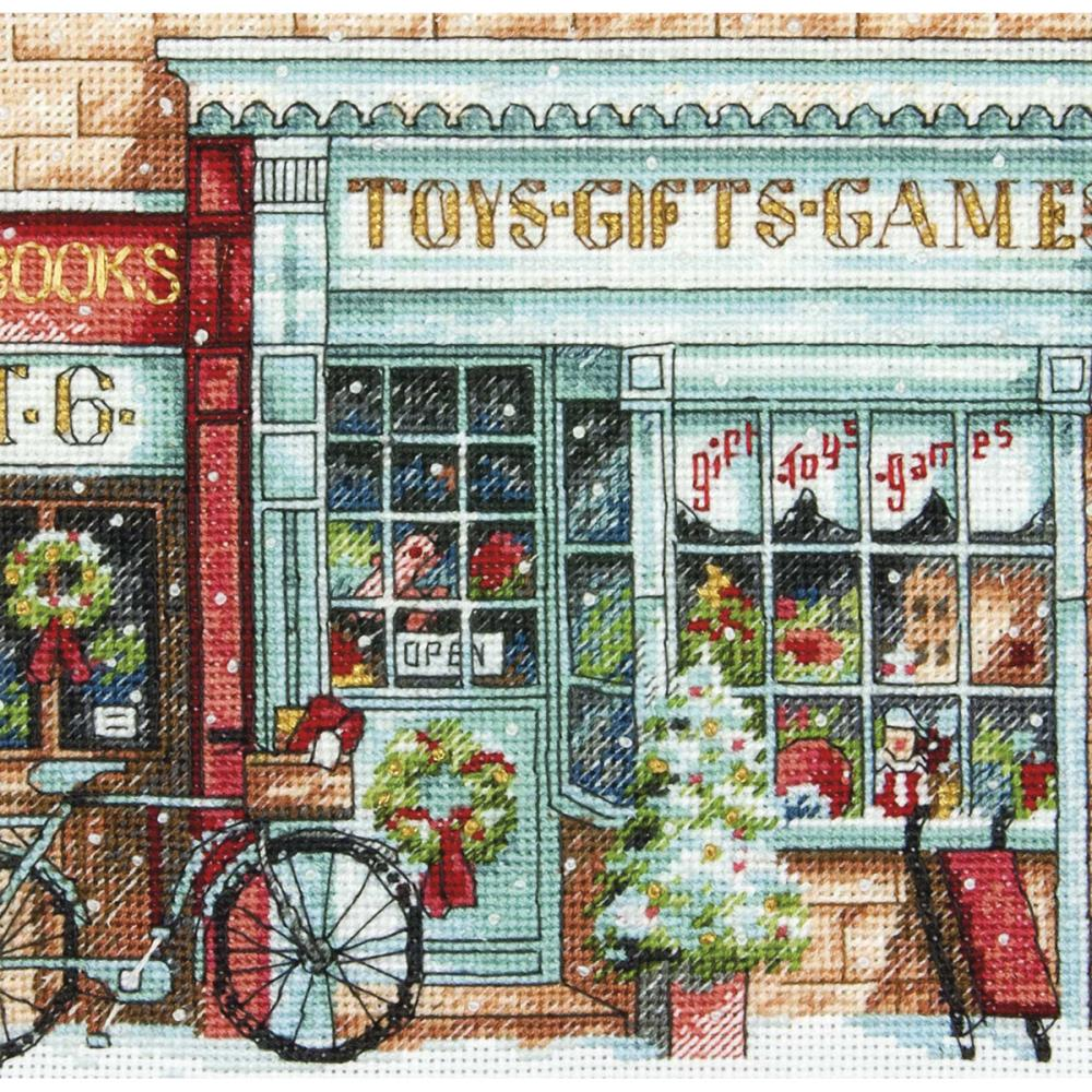 Gold Petites Toy Shoppe Counted Cross Stitch Kit