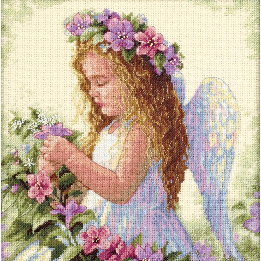Passion Flower Angel Counted Cross Stitch Kit