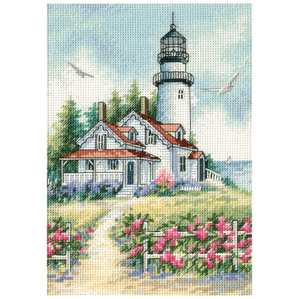 Gold Petites Scenic Lighthouse Counted Cross Stitch Kit