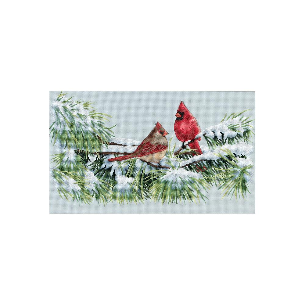 Winter Cardinals Counted Cross Stitch Kit