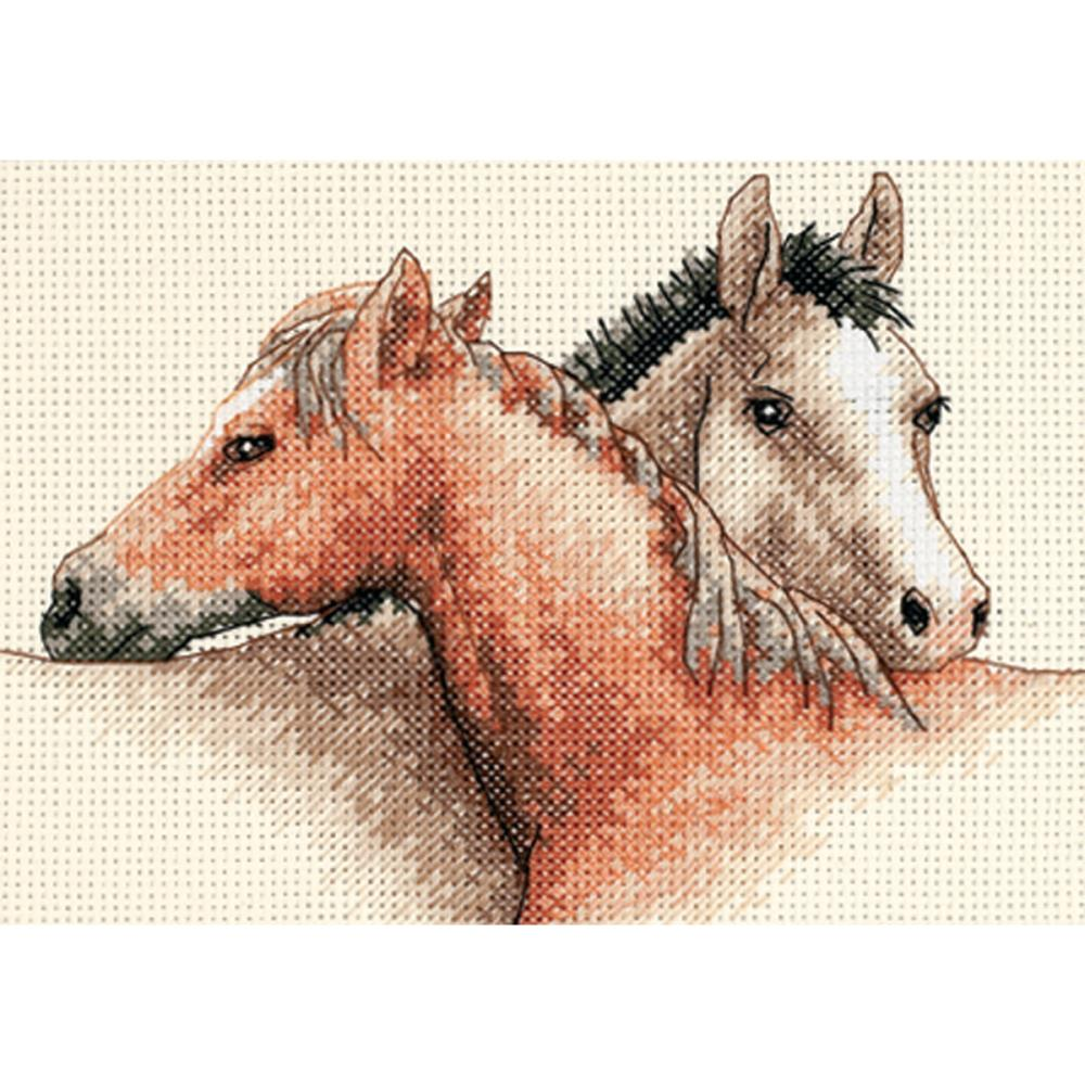 Mini Horse Pals Counted Cross Stitch Kit