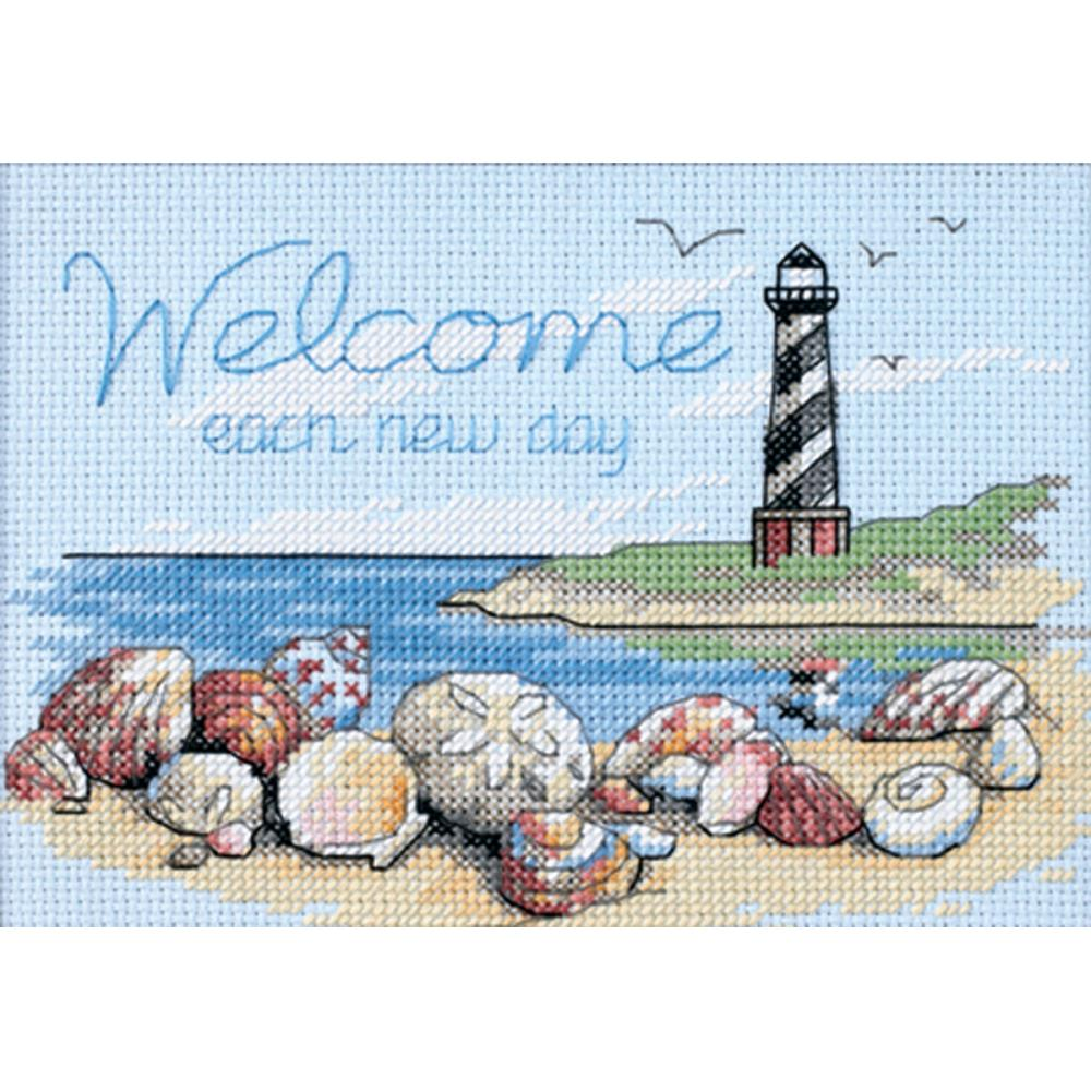 Mini Welcome Each New Day Counted Cross Stitch Kit