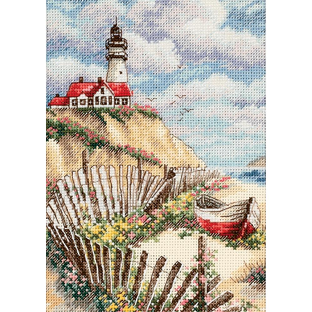 Gold Petites Cliffside Beacon Counted Cross Stitch Kit