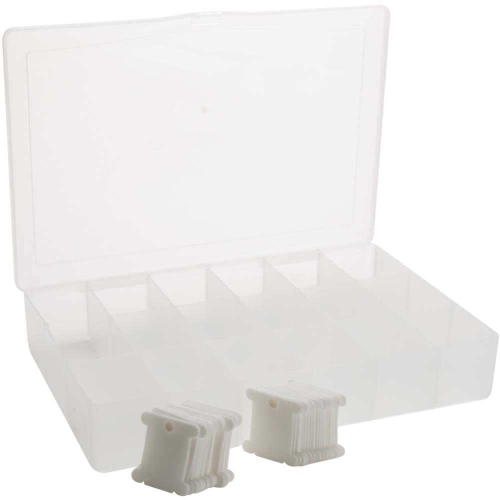 Darice Deep Floss Caddy 17 Compartments W/50 Bobbins